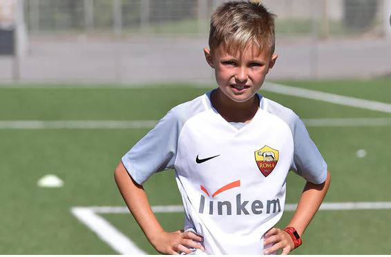 The 10-year-old social media star signed by AS Roma