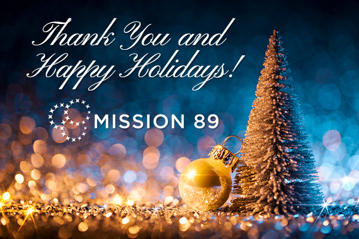 Happy holiday season from Mission 89